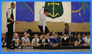 circus skills fo schools tight rope